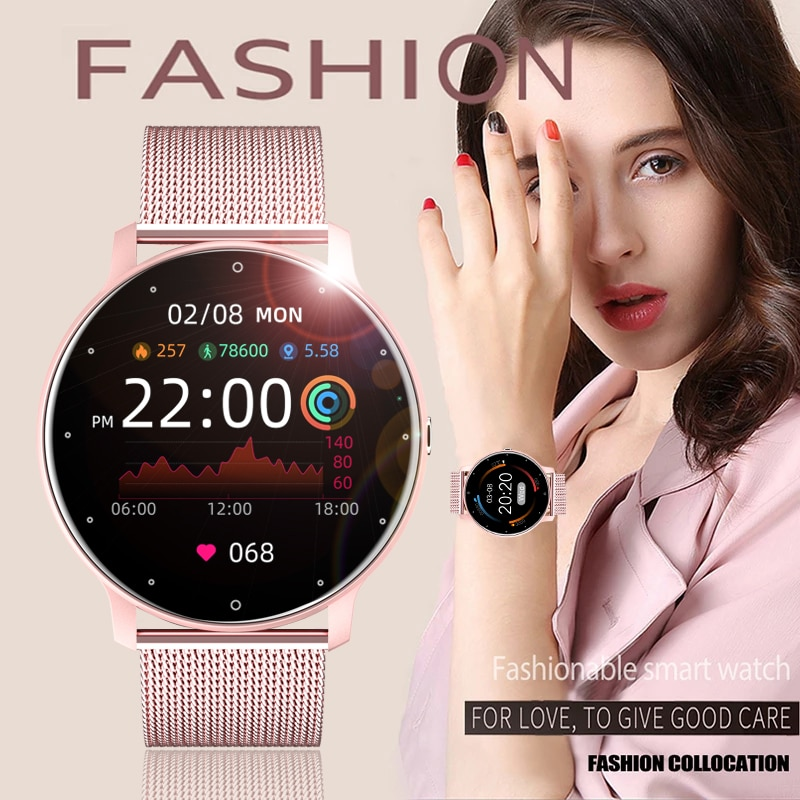 2021 New Women Smart Watch Real-time Weather Forecast Activity Tracker Heart Rate...