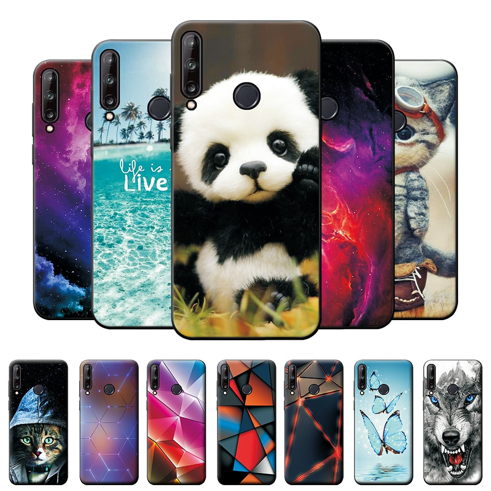 Capa para huawei p40 lite e silicone macio tpu telefone capa para huawei honor 9c volta capa protetora para huawei y7p Caso de telefone & Covers    -