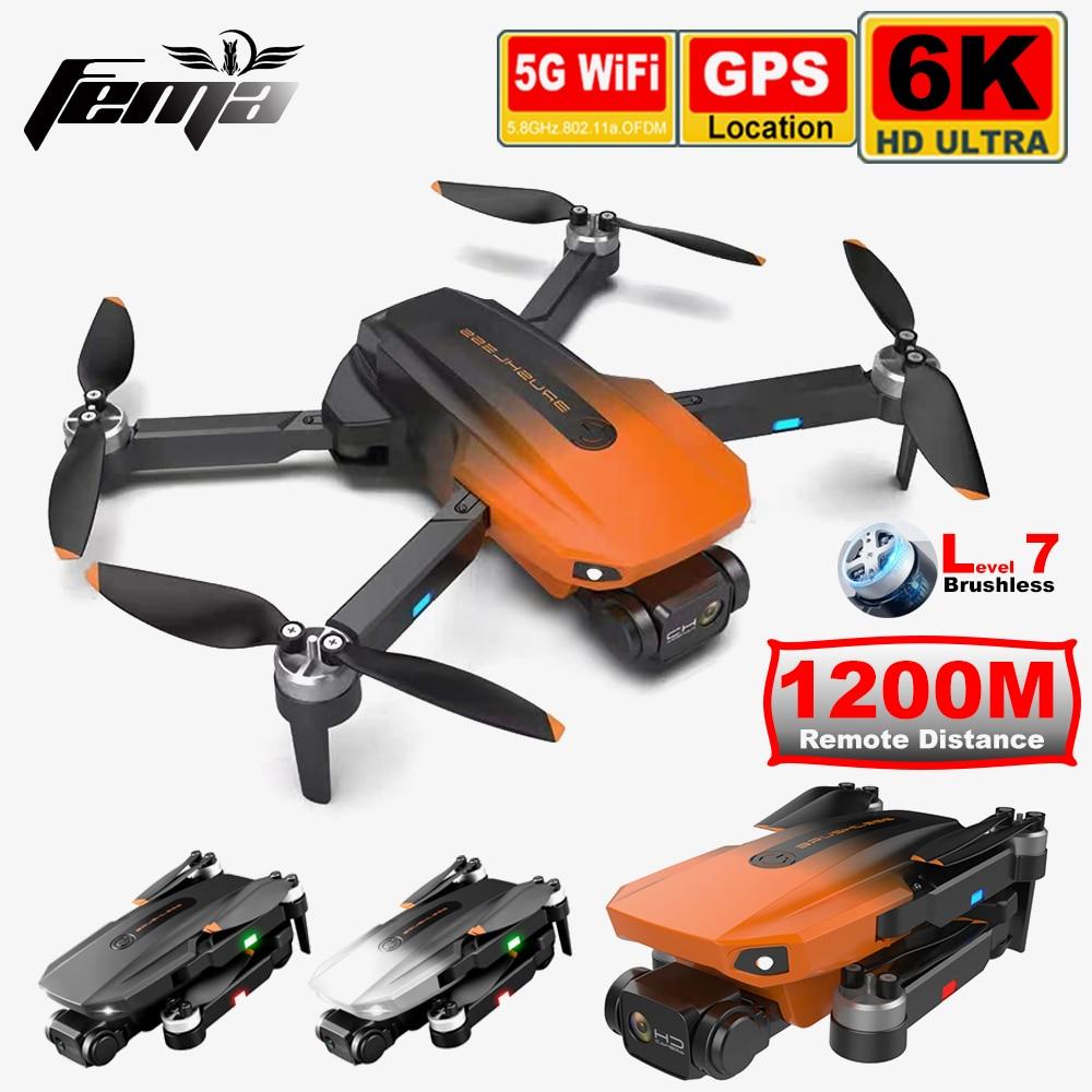 FEMA 3KM Long Distance Camera Drone 6K GPS Anto Return Professional Brushless 5G WiFi FPV Real Time Image Quadcoper Dron RG101
