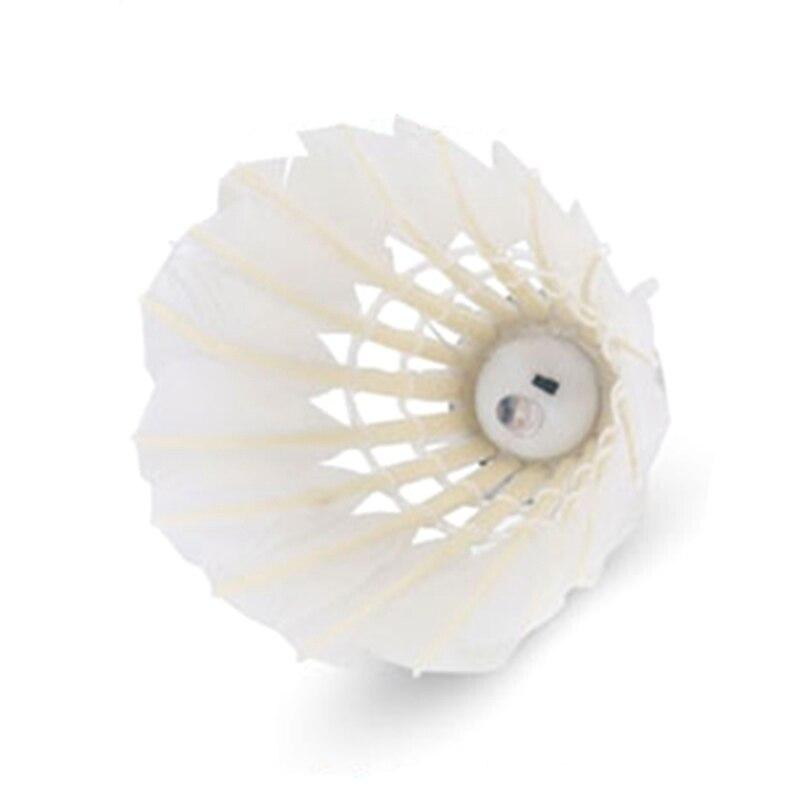 Qualidade cabeça de bola cortiça variável 8 cores bola de ganso incandescente 3 pacote flash night led badminton luminoso