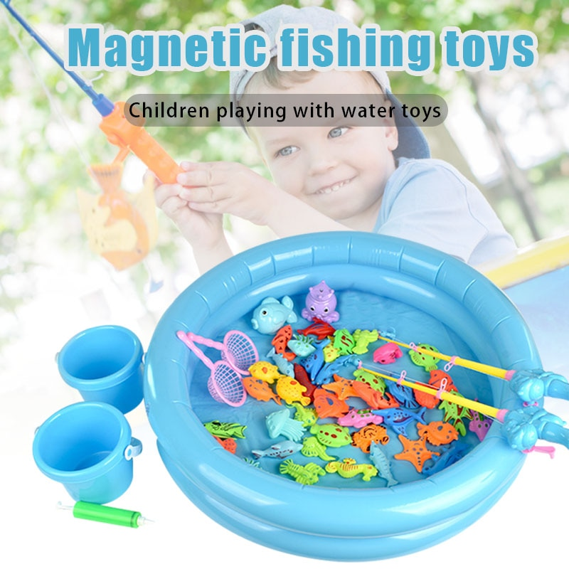 Фото - New Children Magnetic Fishing Parent-child Interaction Toys Game Kids Pretend Play Toy Set Drop Shipping 2021 novelty kids bean bag toss game toys outdoor dart board game game toy set fun parent child interaction educational game