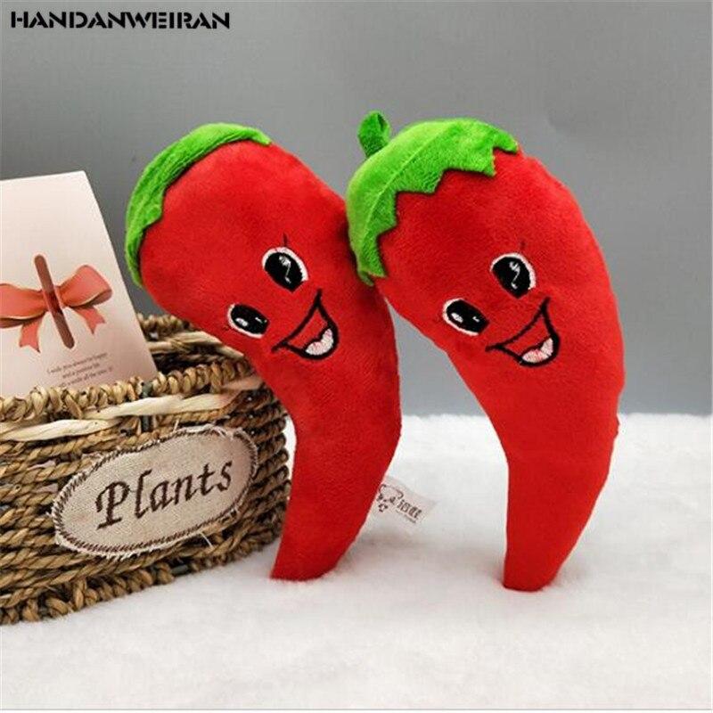Nuevo 1 Uds 20CM rojo de imitación de pimienta de peluche de juguete PP relleno de algodón simulación de verdura colgante divertido gran oferta HANDANWEIRAN barato
