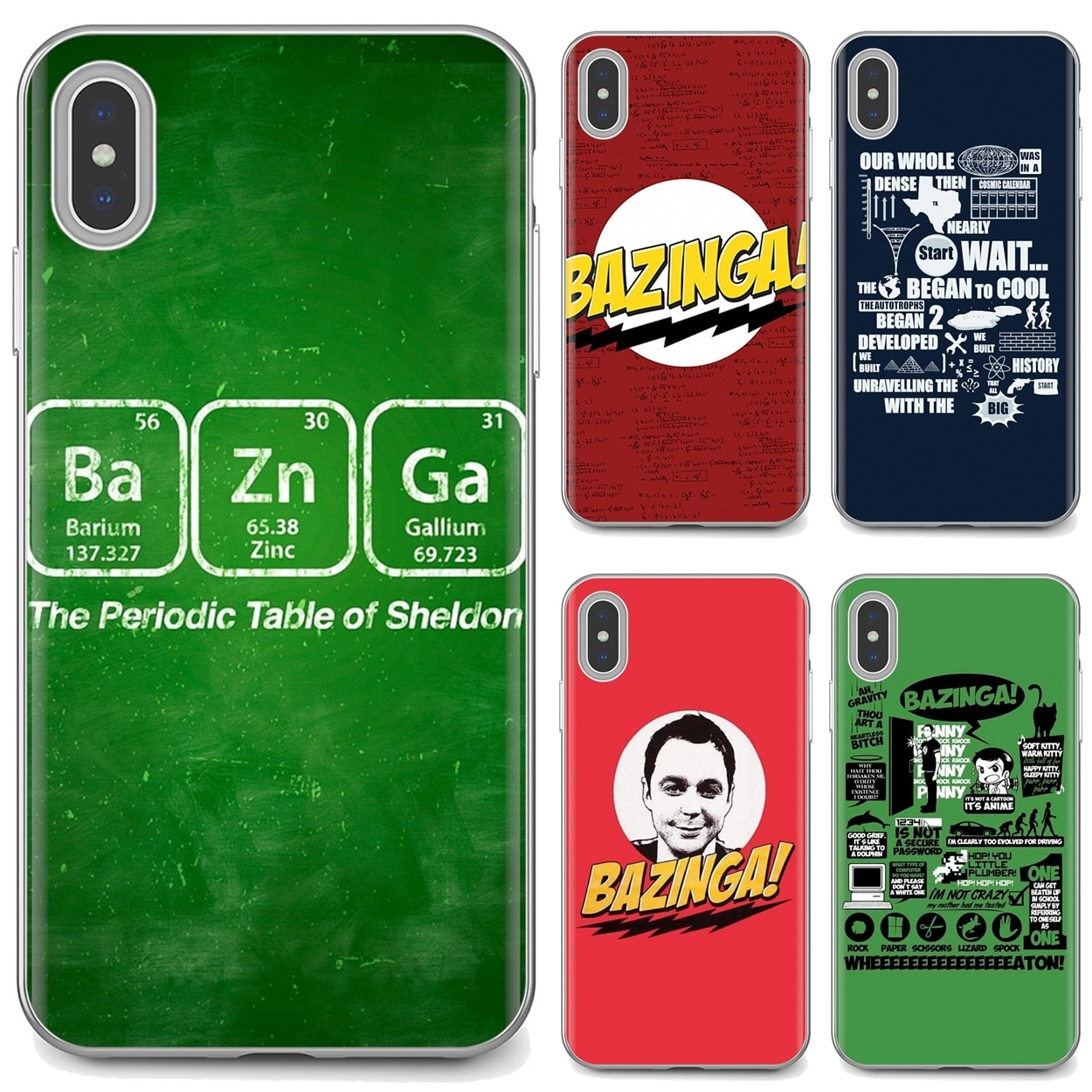 Soft TPU Case For iPhone 11 Pro 4 4S 5 5S SE 5C 6 6S 7 8 X 10 XR XS Plus Max For iPod Touch Bazinga The Big Bang Theory tv show