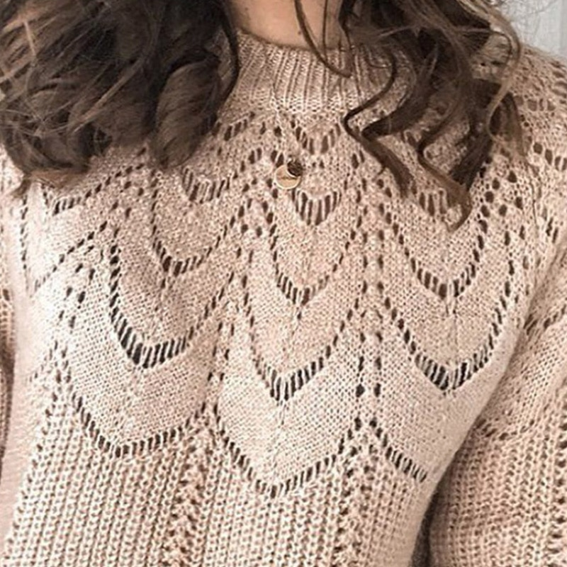 2021 Autumn Winter Women Casual Sweater Ladies New Fashion Style Jacquare Weave Knit Shirt Female Versatile Solid Pullover enlarge