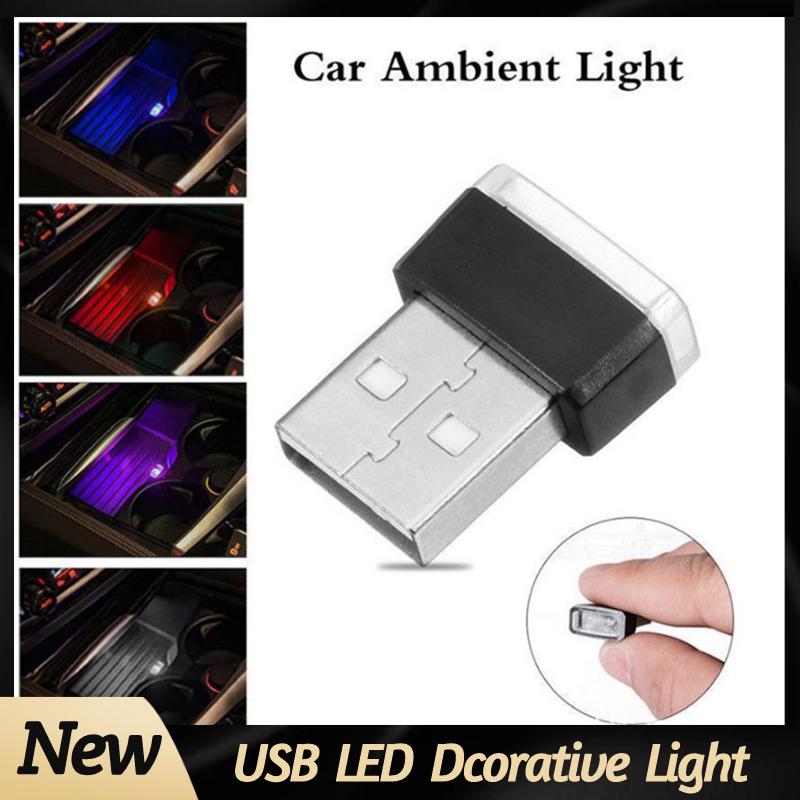 Car Interior Ambient Light 7 Colors LED Neon Mini Usb Atmosphere Lamp  Auto Interior Decorative Atmosphere Light Car Goods