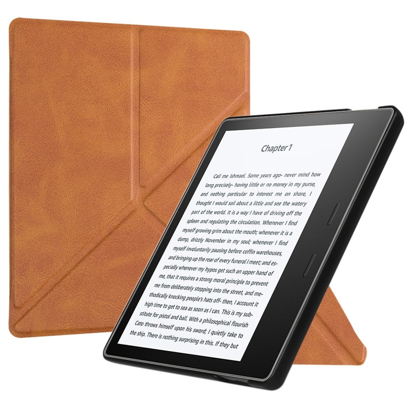 BOZHUORUI All-New Kindle Oasis Case (9th-10th Generation,2017-2019 Release) - Origami Standing Slim Cover with Auto Wake Sleep