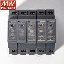 Оригинал Mean Well HDR-15-12 DC 12V 1.25A 15W meanwell ультра тонкая ступенчатая форма din-рейка источник питания