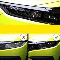 car tpu transparent blackened headlight film for honda civic 2016 2017 2018 2019 2020 10th protective sticker auto accessories