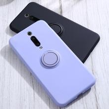 Silikon Fall Für Xiaomi Mi 9T Pro 10 8 Lite 9 Mi8 Mi9 M9T Mi10 Redmi K20 Pro Telefon soft Silikon Schlank Stand Ring Halter Abdeckung Auf