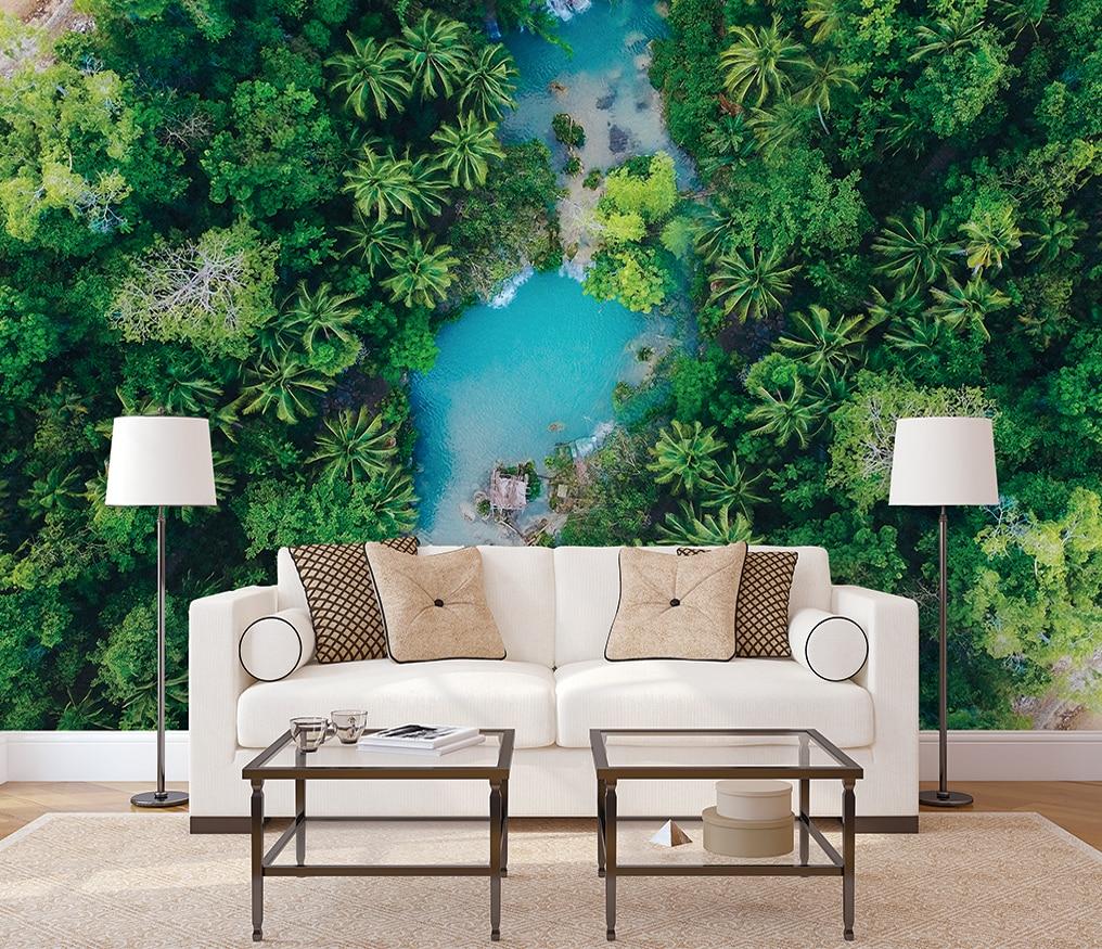 Пользовательские фоновые обои с изображением Девы леса тропического леса внутренний фон Настенные обои mrual 3d обои Настенные обои для