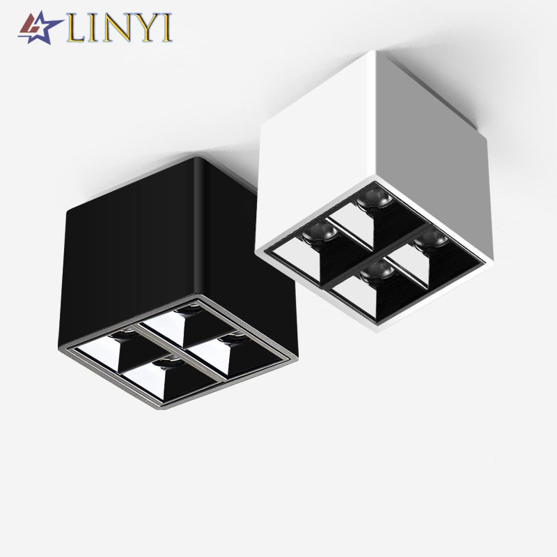 aisilan square led surface mounted cube ceiling downlight for room corridor hallway ac85 260v cob design spot light Modern Design Square Ceiling Lights Downlight Anti-glare 8W Spot Light Surface Mounted Light AC90-260V Bedroom Living Room