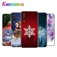 christmas snowflake for xiaomi mi11 10t note10 ultra 5g 9 9t se 8 a3 a2 6x pro play f1 lite 5g transparent phone case