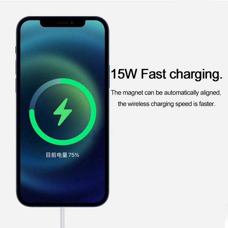 Magnetic Wireless Charger 15W Qi Fast Charger For iPhone 12 / 12 Mini / 12 Pro / 12 Pro Max USB-C Adapter enlarge