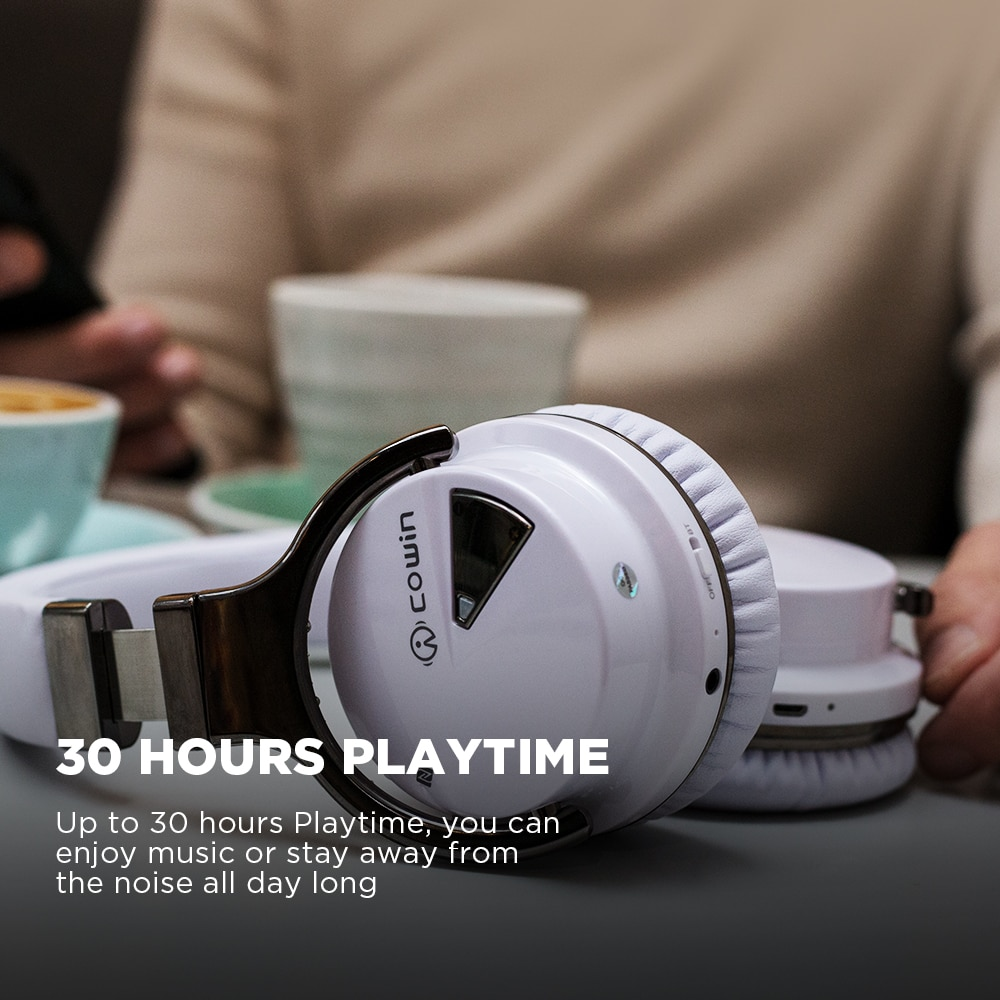 COWIN E7[Upgraded] Active Noise Cancelling Headphones Bluetooth Headphones Wireless Headset Over Ear 30 Hours Playtime with Mic enlarge