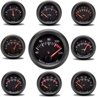 Car Gauge 2 52mm Boost Gauge Water Oil Temperature Oil Pressure Fuel Volt Gauge Air Fuel Ratio Exhaust Temp Vehicle Meter 12V
