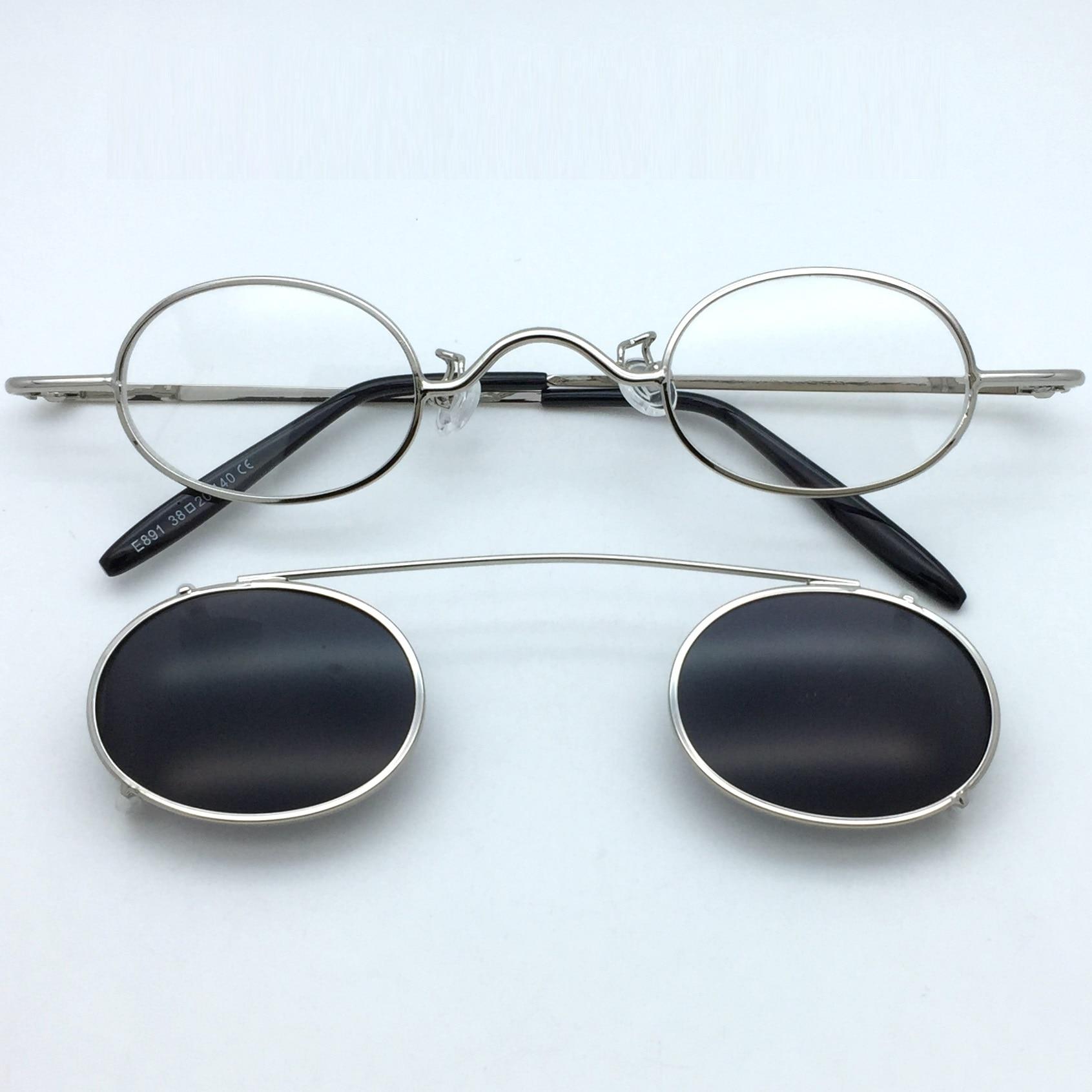 Zerosun clip óculos de sol masculino feminino pequenos óculos ovais ajuste estreito óculos steampunk