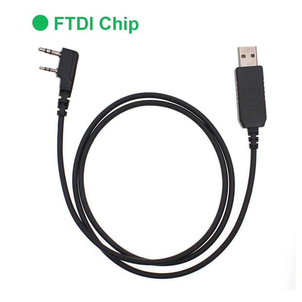 Cable de programación anysecUSB-K1 FTDI para interfaz K, SL1M, DM960, UV-82, BaoFeng, UV-5R, Radio de 2 vías, etc.