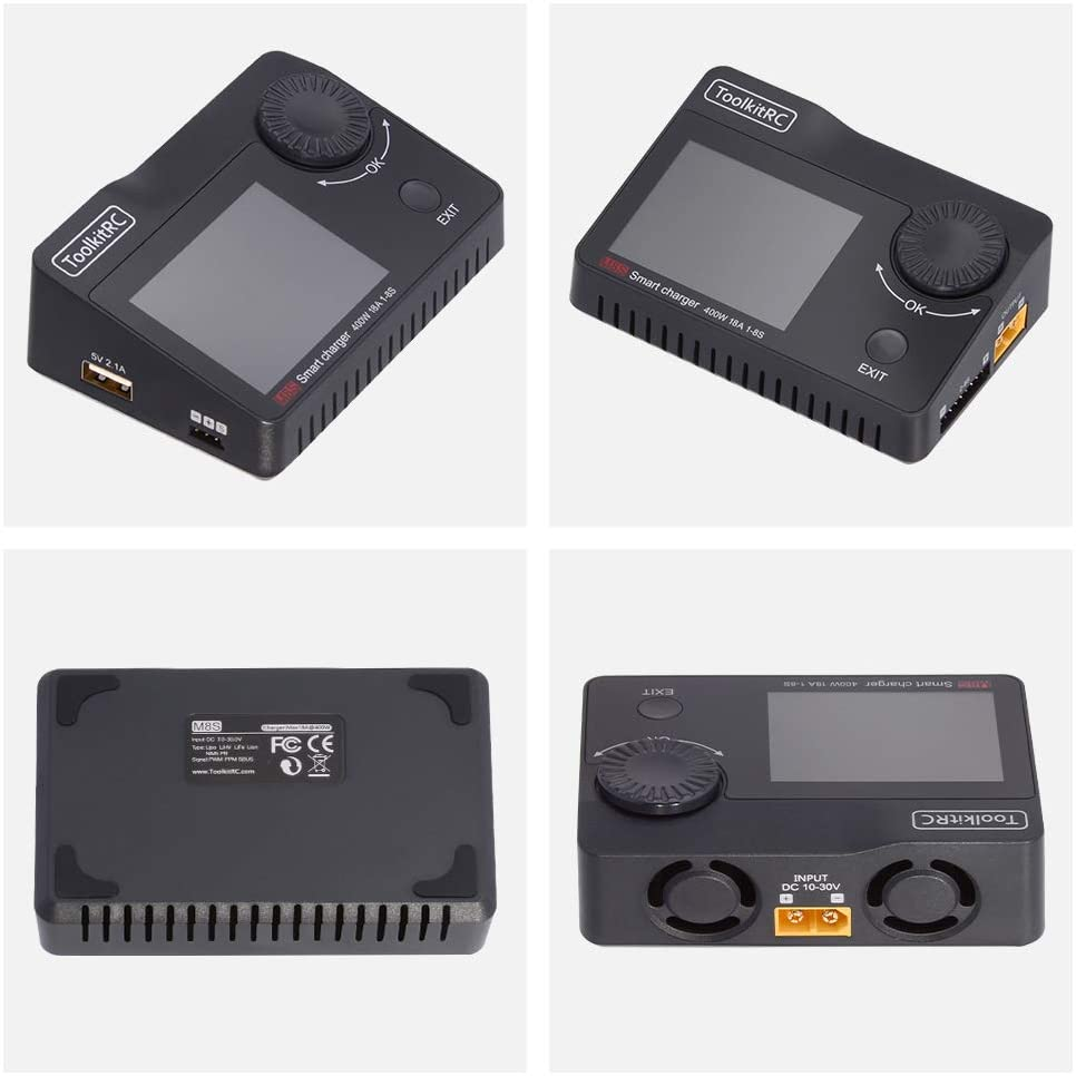 ToolkitRC M8S Battery Balance Charger Discharge Color Screen 400W 18A DC Output for 1-8S Lipo LiHV Life Lion NiMh Pb enlarge