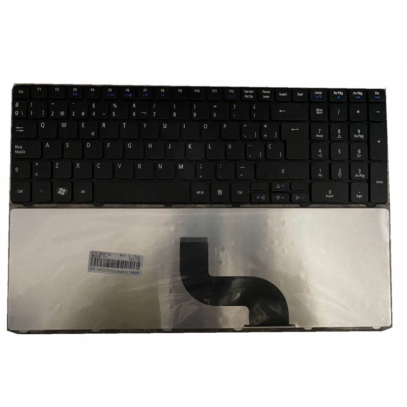 Teclado SP para ordenador portátil, español, para Acer Aspire 5810, 5810T, 5820t, 5820TG, 5820TG, 5820tz, 7551, 7551, 5740, 5740, 5251g, 5740z, 5551, 5552