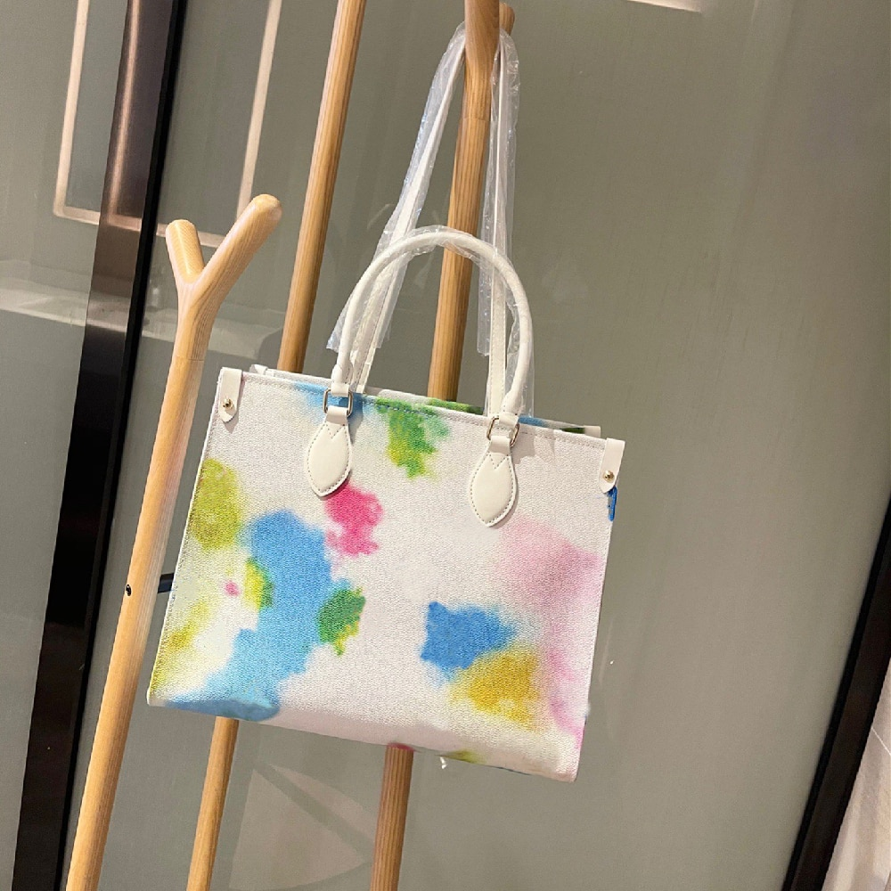Ladies Gradient Color Shopping Bag Large Capacity Handbag Classic Shopping Bag Tote Bag