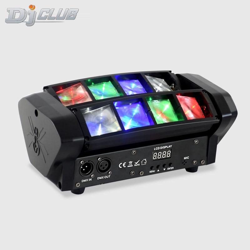 Мини-штатив-светильник с подвижной головкой Светодиодный точечный светильник 8X6W Rgbw Луч светильник par Dj светильник s оборудование