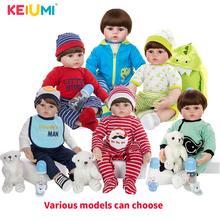 24 Inch 60 cm 현실적인 Reborn Baby Dolls 실리콘 부드러운 코튼 바디 패션 Boneca Reborn For Kids 크리스마스 선물 Best Playmates