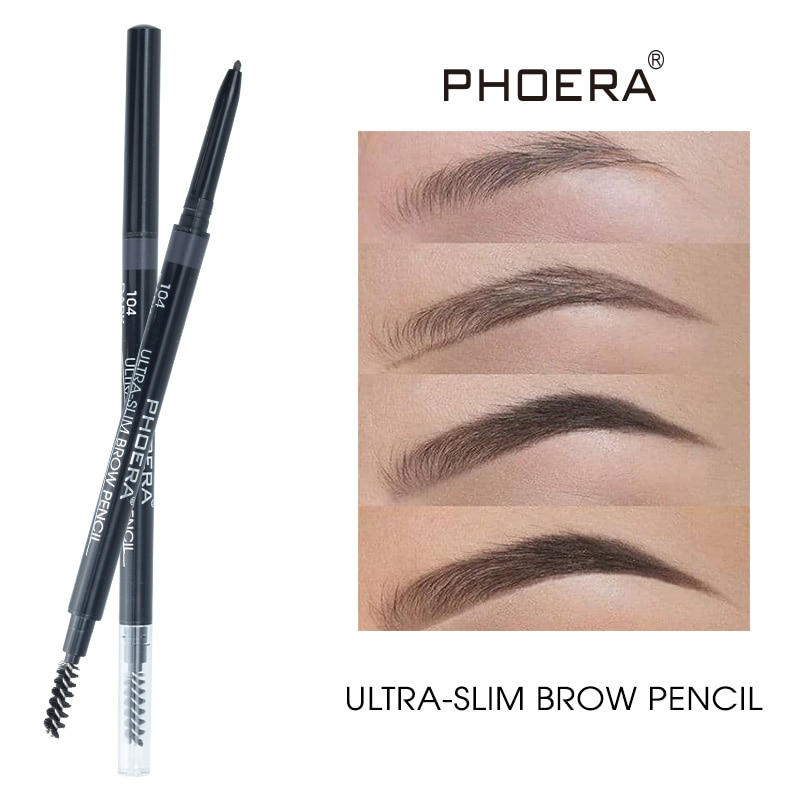 Double Ended Eyebrow Pencil With Brush Not Blooming Lasting Waterproof  Natural Brown 5Colors Eyebro