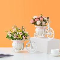 Vase en rotin a fleurs en forme de Tricycle  modele de velo  ornement de bureau pour fete de mariage  decoration de maison  cadeau danniversaire