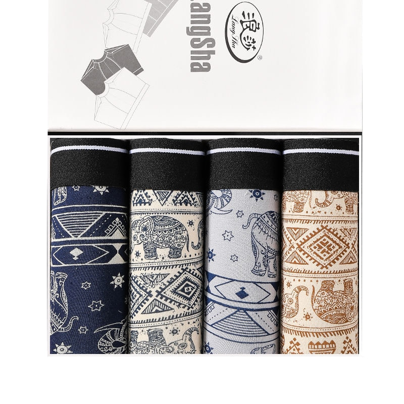 High Quality Brand Mens cotton Underwear U Convex Boxers Shorts Sexy Soft Male Panties Printed Breathable Underpants L-3XL