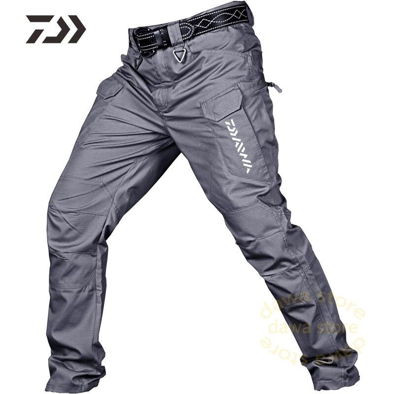 Pantaloni da pesca abbigliamento da pesca impermeabile escursionismo multi-tasca durevole caccia all'aperto pantaloni da uomo pantaloni tattici abbigliamento da pesca