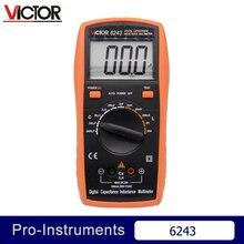 Victor vc6243 profissional victor indutância capacitância lcr medidor de resistência multímetro digital null