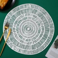 pvc hollow nordic style non slip kitchen placemat coaster insulation pad dish coffee cup table mat home hotel decor 51062