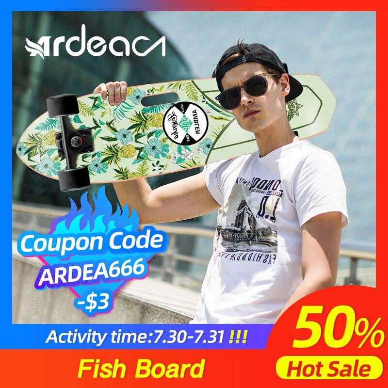 ARDEA Cruiser Skateboard 71cm/28in Fishboard Cruiser Penny skateboard Banana Fish board Outdoor Sport Portable Skate board