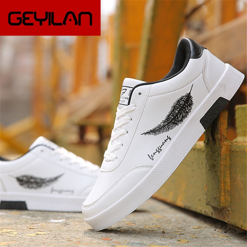 Fashion Casual Leather Shoes for Male Work Outdoor Walking Sneaker Autumn Breathable Men Shoes Footw