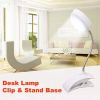SUCHME Flexo LED Table Lamp Clip Desk Lamp LED Clamp Reading Study Bed Laptop Desk Bright Light Drafting Table Lamp Portable