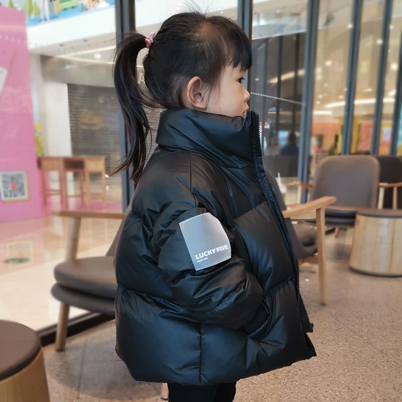 2021 Hot البيع الأطفال معطف الشتاء النسخة الكورية مقاوم للماء لامعة أسفل سترة الفتيات 3-12 سنة الأطفال المراهقين بنين بارك