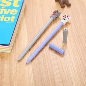 20PCs Creative Kitten Gel Pen Cute Cartoon Cat Animal Neutral Pen Office Supplies Signature Pen Kids Gifts Wholesale