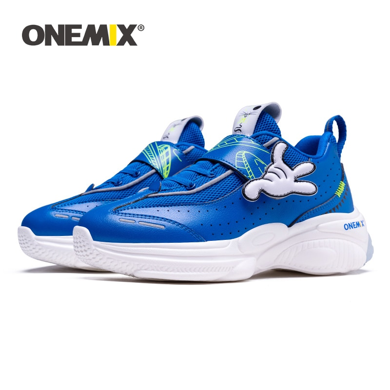 ONEMIX لطيف موضة رائجة البيع عالية الجودة فتاة بوي الرياضة احذية الجري الصف العلوي رياضة وسادة هوائية حذاء رياضة