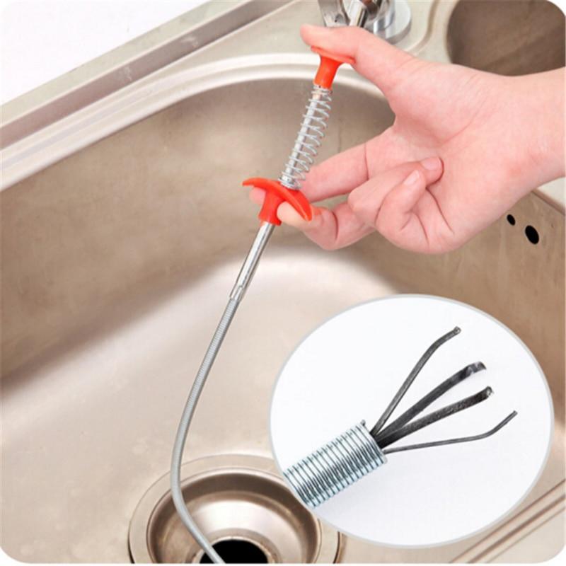 Кухонные щетки 61 см, Гибкие Длинные захваты для мойки, захват с пружинной ручкой, инструменты для уборки ванной комнаты изгиб