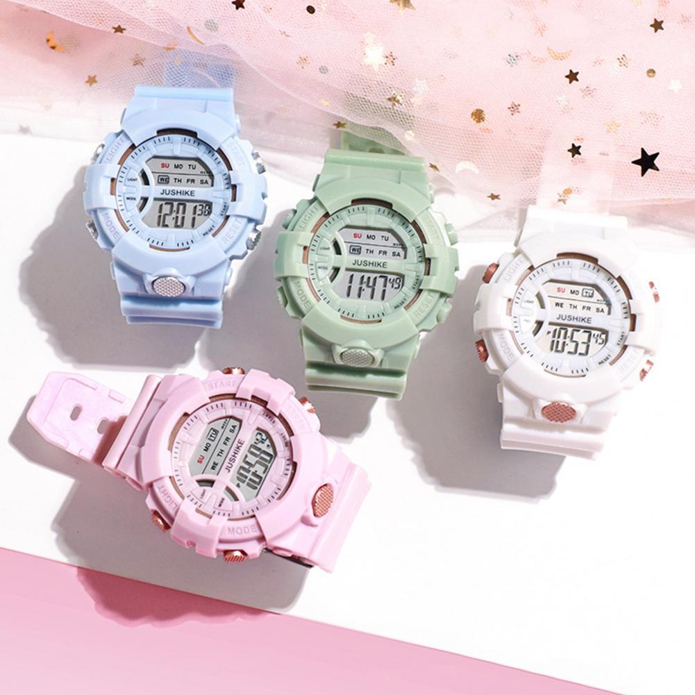 Electronic Watch Digital Display Multifunctional Wrist Watches Clocks Trendy Student Girl Men's Spor