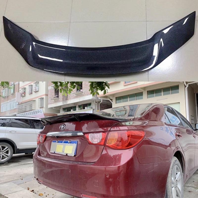 Dla Toyota Mark X spoiler 2010 11 12 13 14 15 16 17 rok błyszczący carbon fiber tylna owiewka R style akcesoria