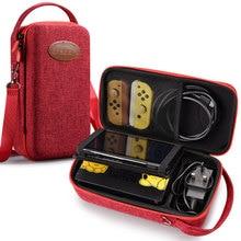 Capa protetora para nintendo switch, case de proteção, capa rígida, à prova d água, para viagens, ns, game, conjunto de acessórios, saco de armazenamento