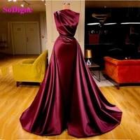 sodigne simple satin mermaid evening dresses elegant sleeveless o neck women long formal gown special occasion dresses 2021