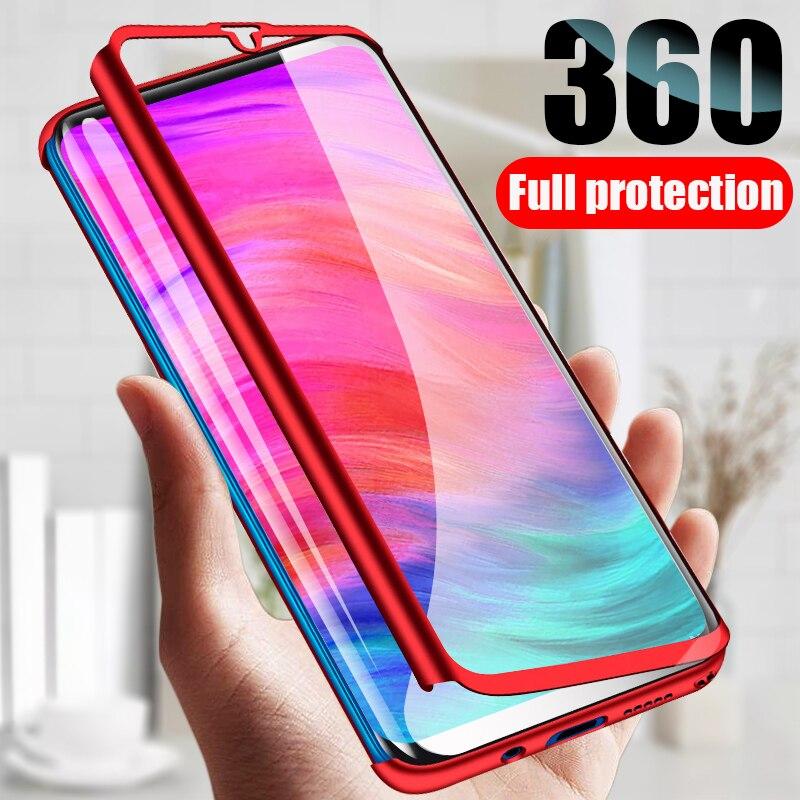 360 Protective Case For Xiaomi Redmi Note 7 6 Pro Case 4X 4A 5A 5 Plus Screen Protector For mi 8 Lite 9 SE A1 5X A2 6X Cover Bag