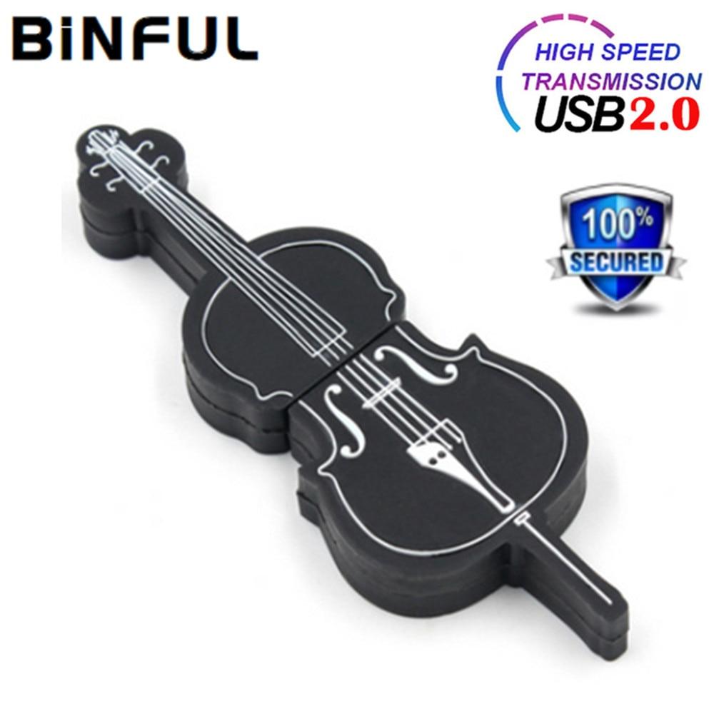 BiNFUL ViolinGuitar флэш-накопитель Музыкальный Usb флэш-накопитель 32GB флэш-карта памяти 4 ГБ 8 ГБ оперативной памяти, 16 Гб встроенной памяти, флэш-нако...