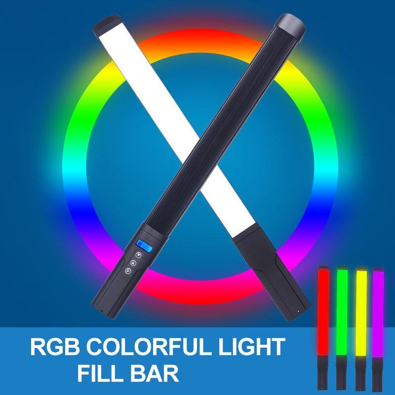 Hand-held Dimmable RGB LED Selfie Phone Fill Light Photo Ring Lamp For Makeup Video Volg Live Youtube Aro De Luz Para Celular