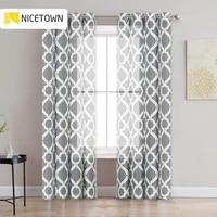 nicetown 1pc print moroccan pattern sheer curtain grommet decoration items with modern curtain living room bedroom fashion voile