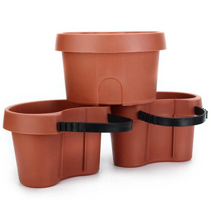 3 Pc/lote Única Calha calha Jardim Vaso de Flores Flor Tubo de Drenagem Tubo de Drenagem Jardim Plantadores Pots Tubs
