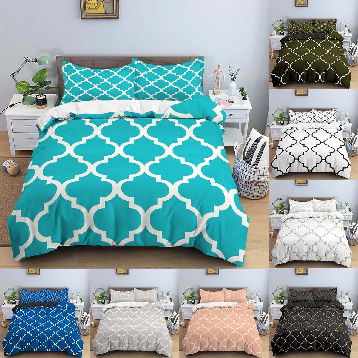 الأخضر شبكة حاف الغطاء 220x24 0 غطاء سرير ملكي المخدة 3 قطعة طقم سرير مزدوج الملكة غطاء لحاف المنزل المعزي غطاء