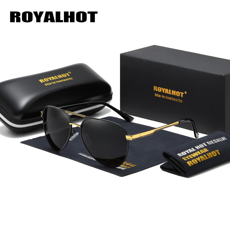 Gafas de sol con montura ovalada y polarizada para hombres y mujeres RoyalHot gafas de sol para conducir gafas de sol para hombres Oculos masculino 900221